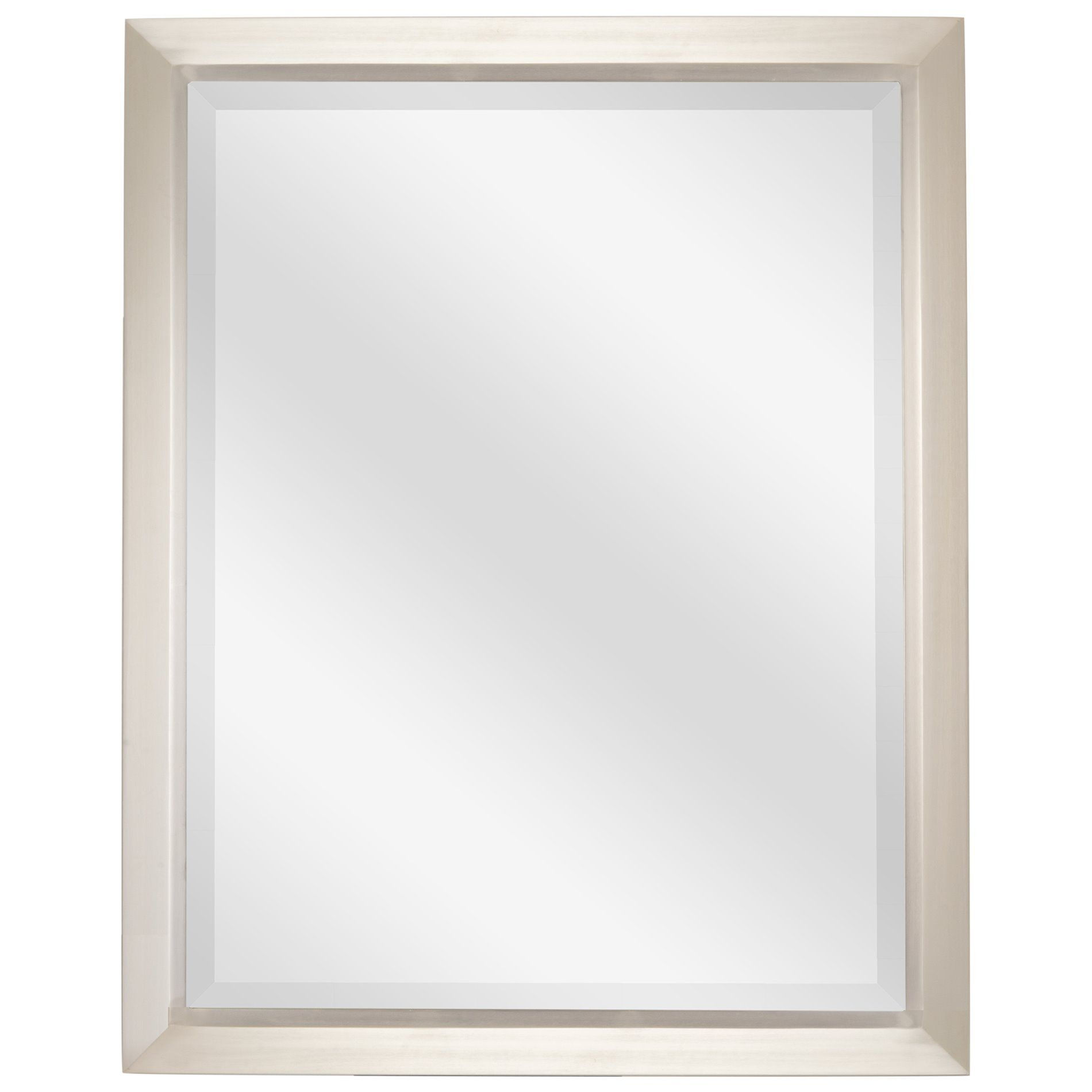 Decorative Brushed Nickel Mirror Revel Madison 30
