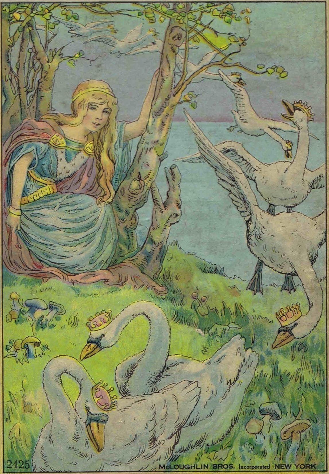 The Wild Swans Fairytale Illustration