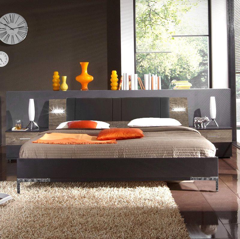 Schlafzimmerset 3-tlg »MALAGA« lava, Wildeiche Jetzt bestellen unter - schlafzimmer komplett