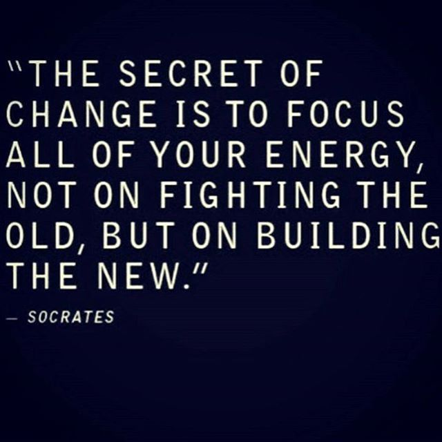 The only thing constant is change.