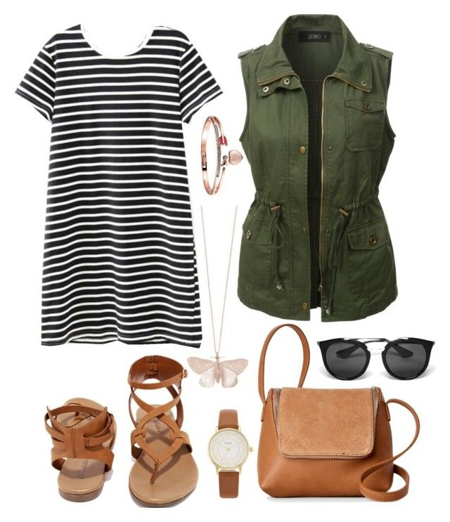 """""""Untitled #510"""" by anahideleon on Polyvore featuring WithChic, LE3NO, Breckelle's, Alex Monroe, Street Level, Kate Spade and Prada"""