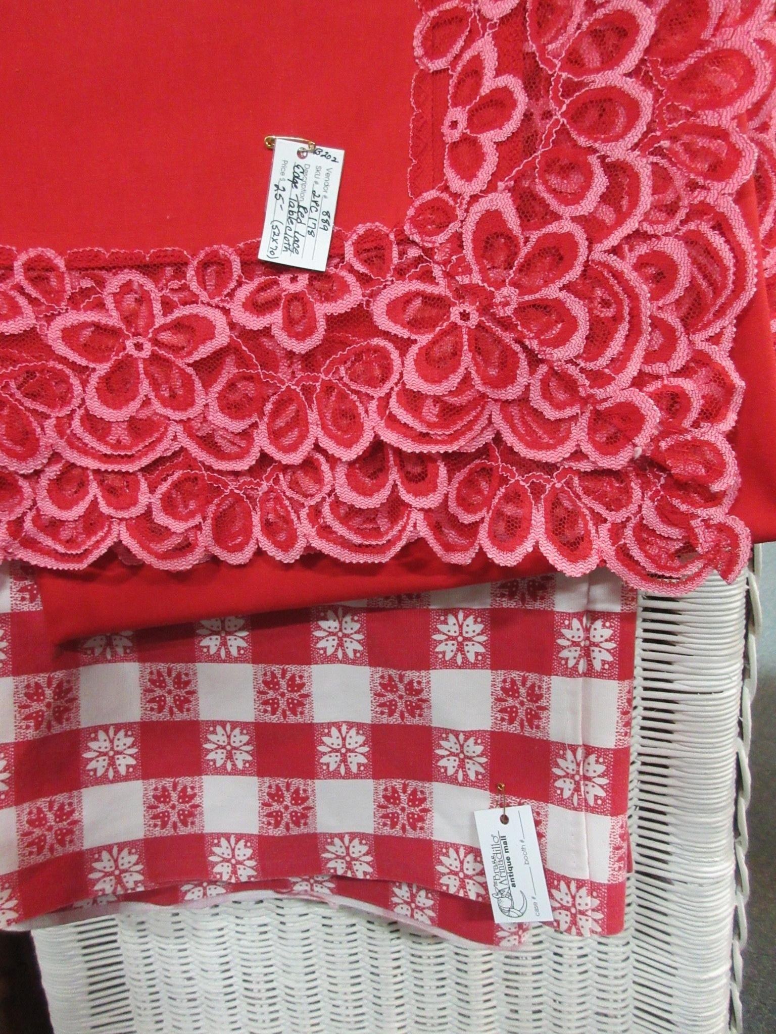 Vintage Tablecloths, Perfect For V Day! From Vendor 889 In Booth 202.