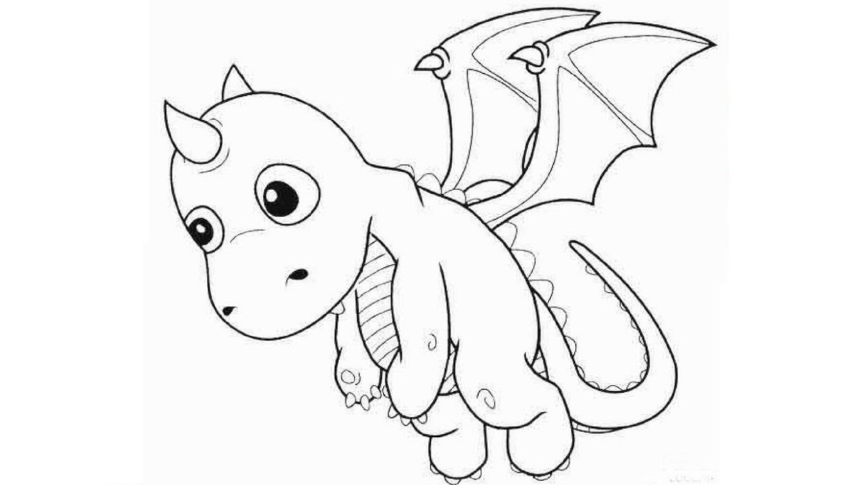 Baby Dragon Coloring Pages Amazing Design