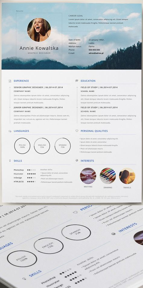 Free Minimalistic Resume/CV Template (AI) Career Planning - free template for resume