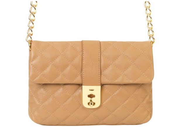 Jaeger Kate Tan Quilted Clutch Bag Bags