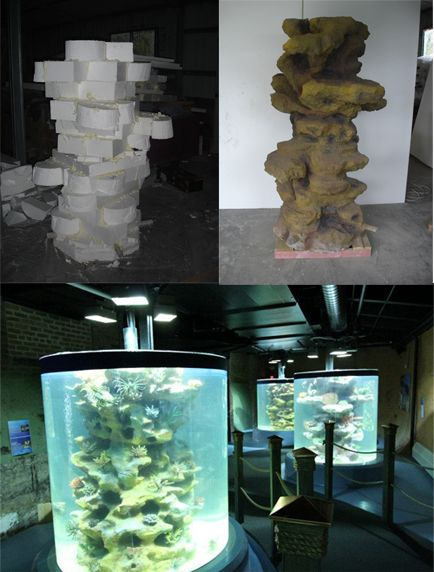 Marinescape ordered 2lb density EPS Foam from Universal to complete the final touches on a few of the 3d aquarium backgrounds. #foam #EPS