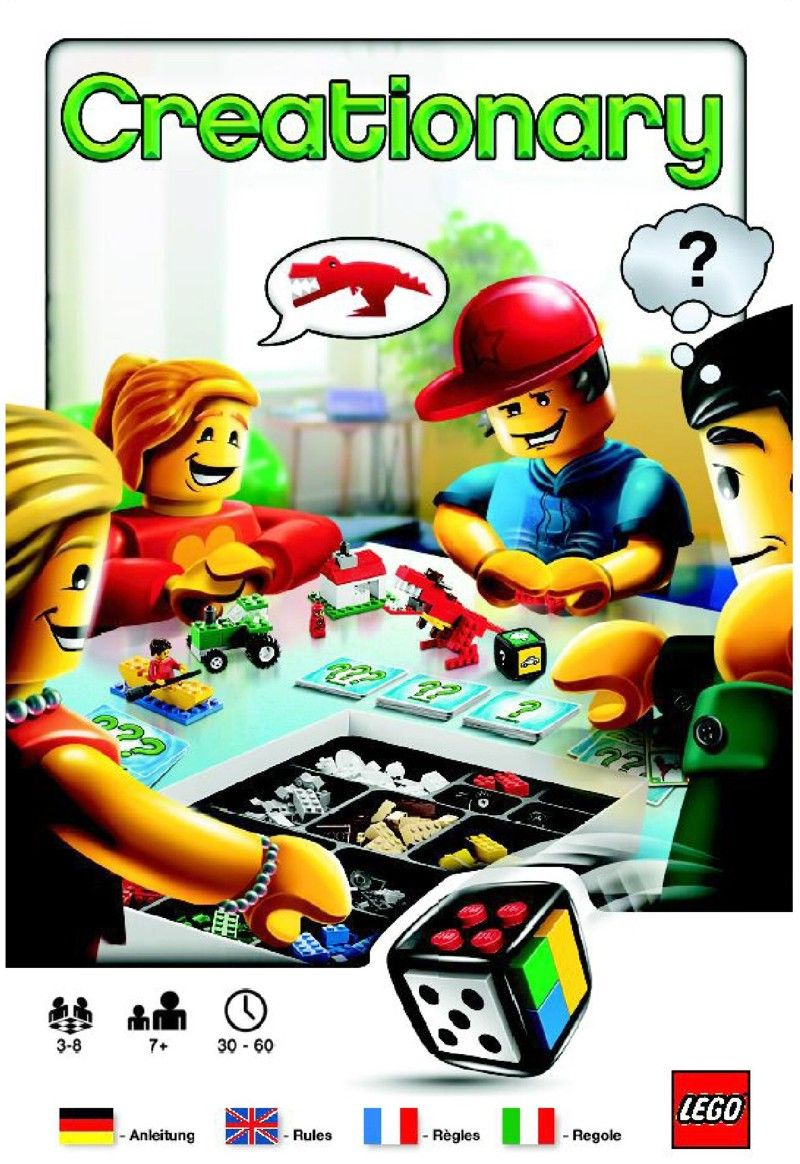 Games Creationary Lego 3844 Board Game Instructions