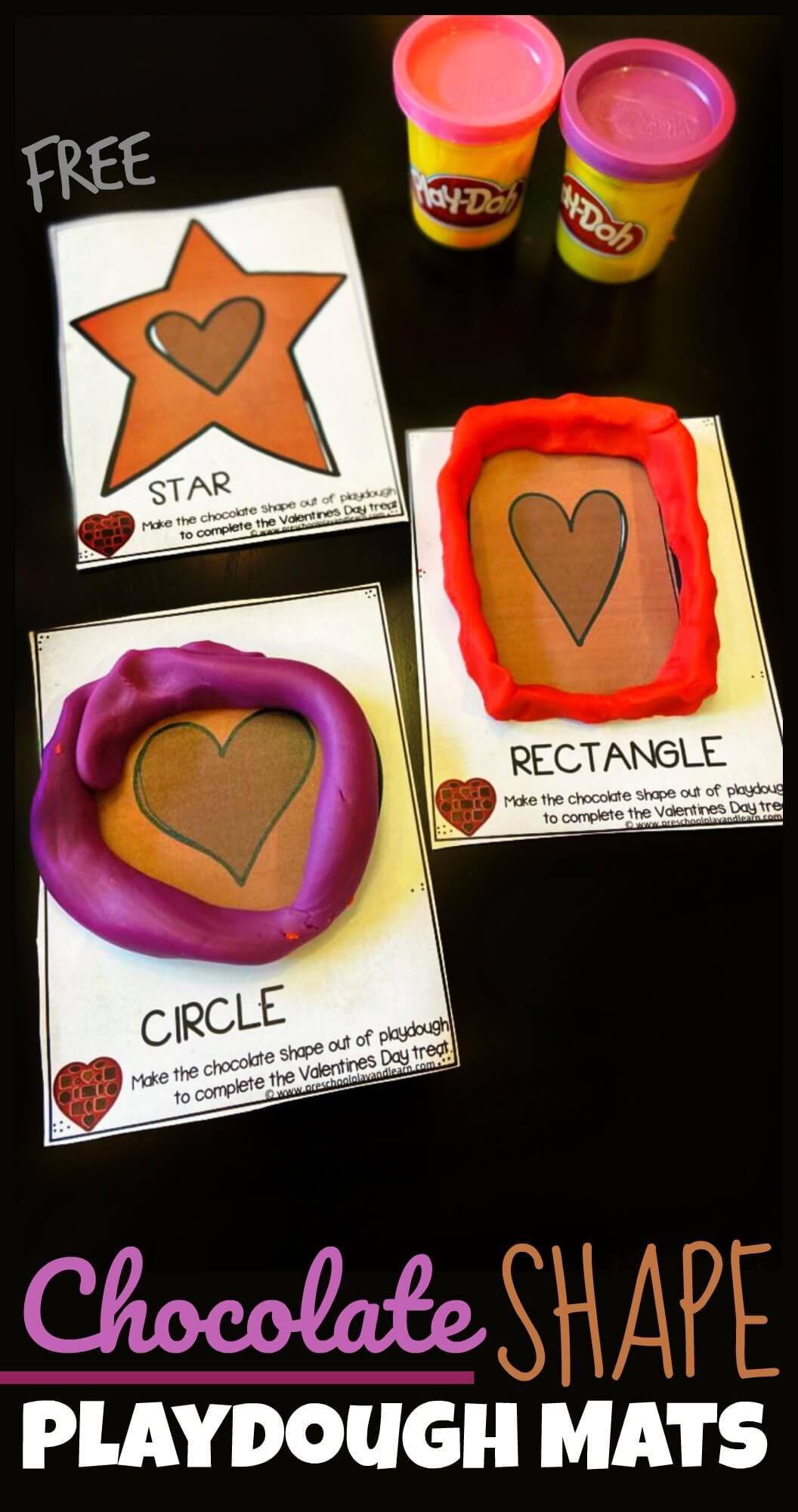 Free Chocolate Shape Playdough Cards