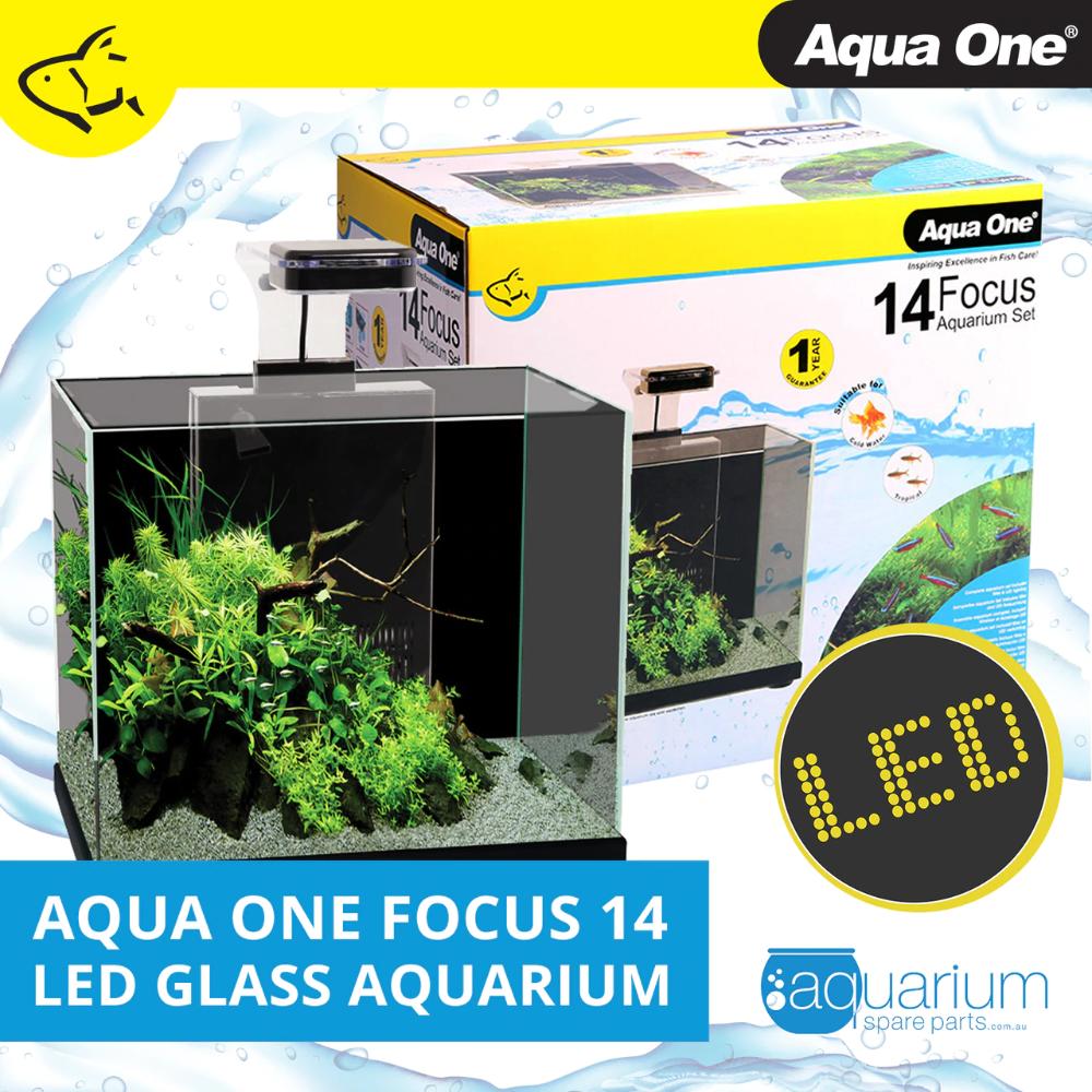 Aqua One Focus 14 Led Aquarium Black 56221bk Energy Efficient Lighting Aquarium Set Glass Aquarium