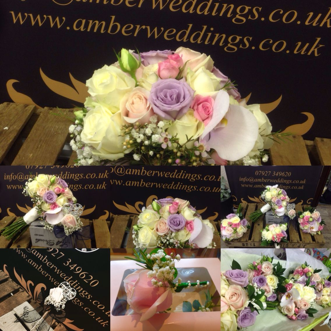 Flowers for bride and bridesmaid - pastel flowers