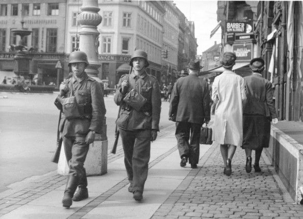 AUG 29 1943 Denmark defies Nazi Martial Law German troops on the streets of Denmark, 29th August 1943.