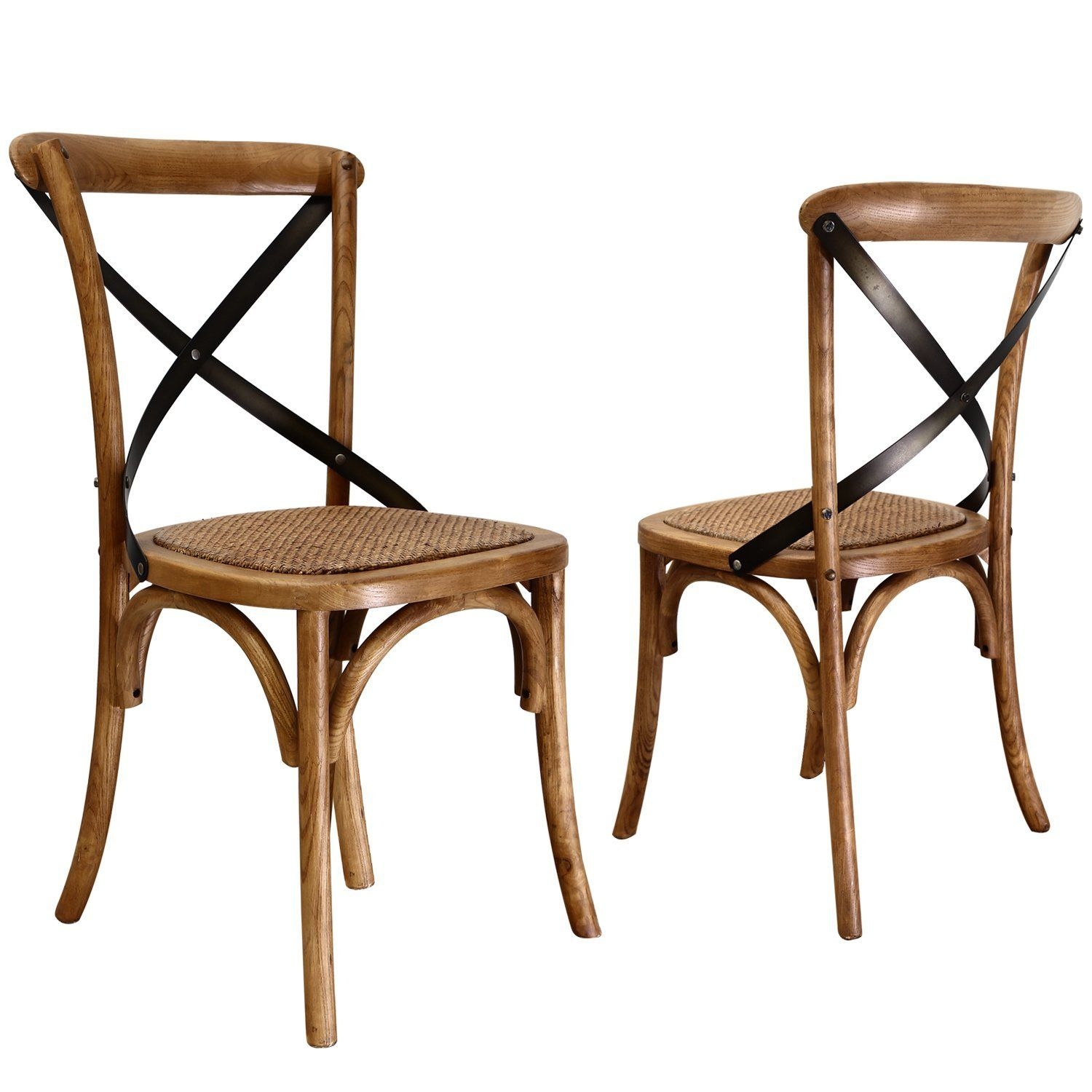 x back dining chairs. Amazon.com - Joveco Antique Style X Back Solid Wood Dining Chair With Soft Rattan Chairs N