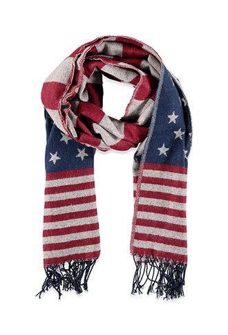 Scarves Gloves Women Flag Scarf American Flag Scarf Scarf