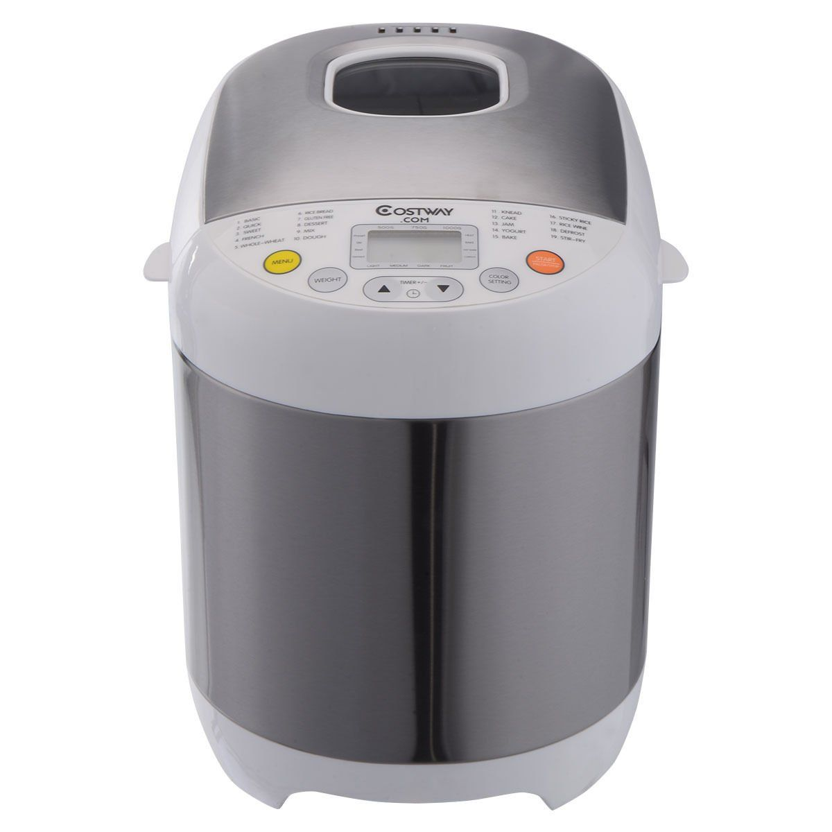 Costway Stainless Steel 2lb 550w Electric Bread Maker Machine Programmable Home Kitchen You Can Find More D