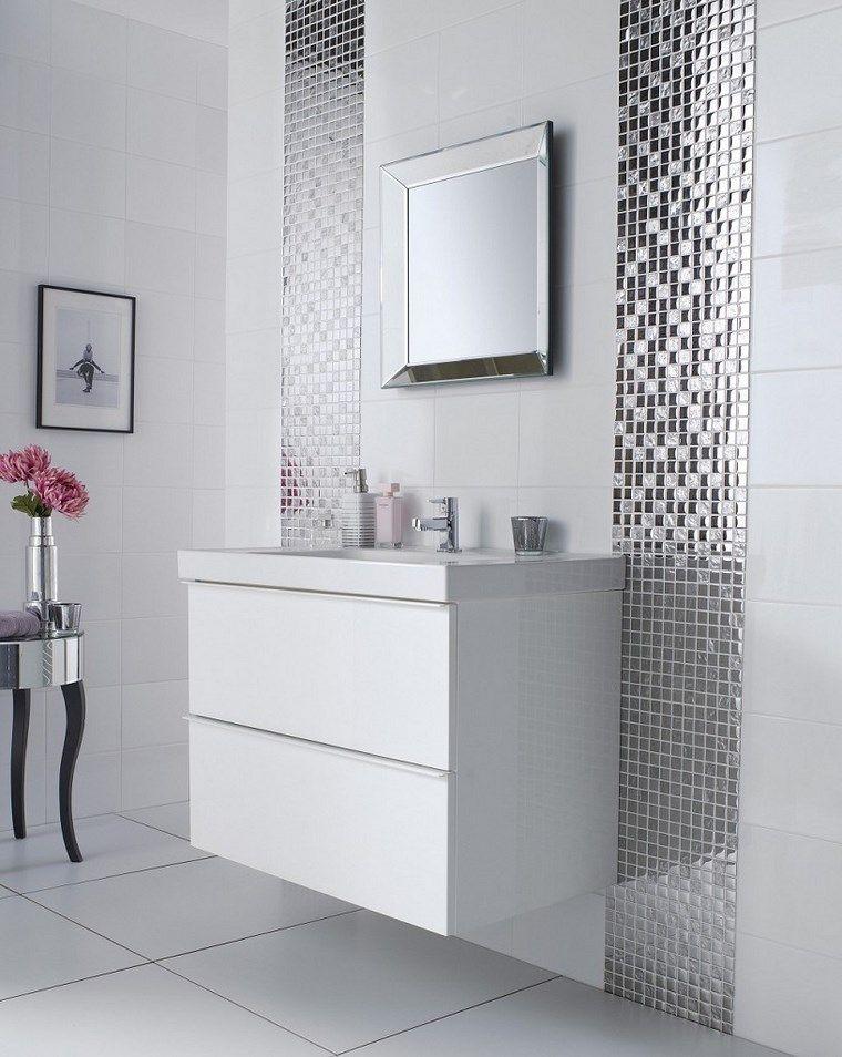 Mosaicos 115 diseños de baños atractivos y coloridos Pinterest - baos con mosaicos