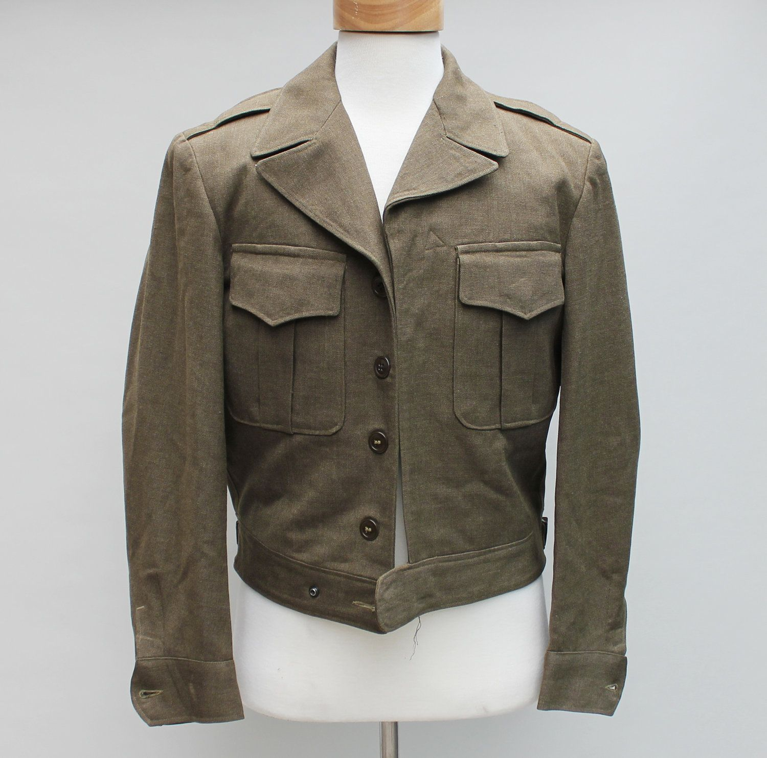 40s Vintage Men's Cropped Wool Military Jacket - MEDIUM. $39.00 ...