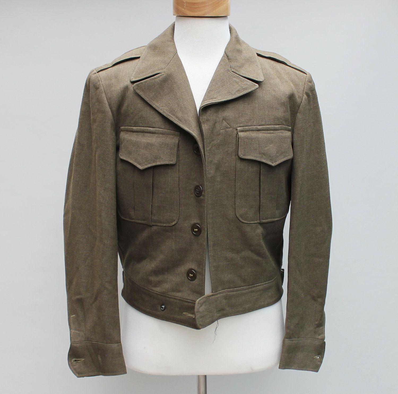 40s Vintage Men's Cropped Wool Military Jacket - MEDIUM. $39.00 ...