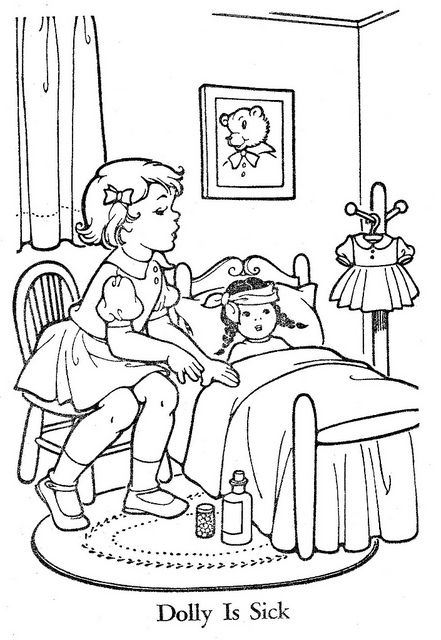 Kids Sharing Coloring Page - Coloring Home | 640x441