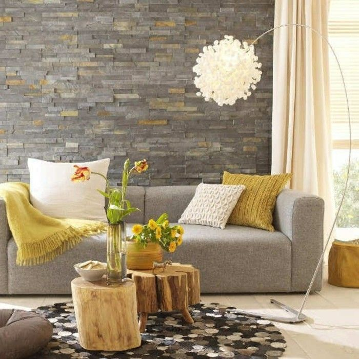 interessante moderne farbgestaltung wohnzimmer grau und beige - wohnzimmer orange grau