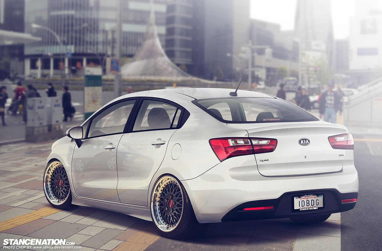 Kia All New Rio Sedan Stancelovers By Idhuy Deviantart Com My