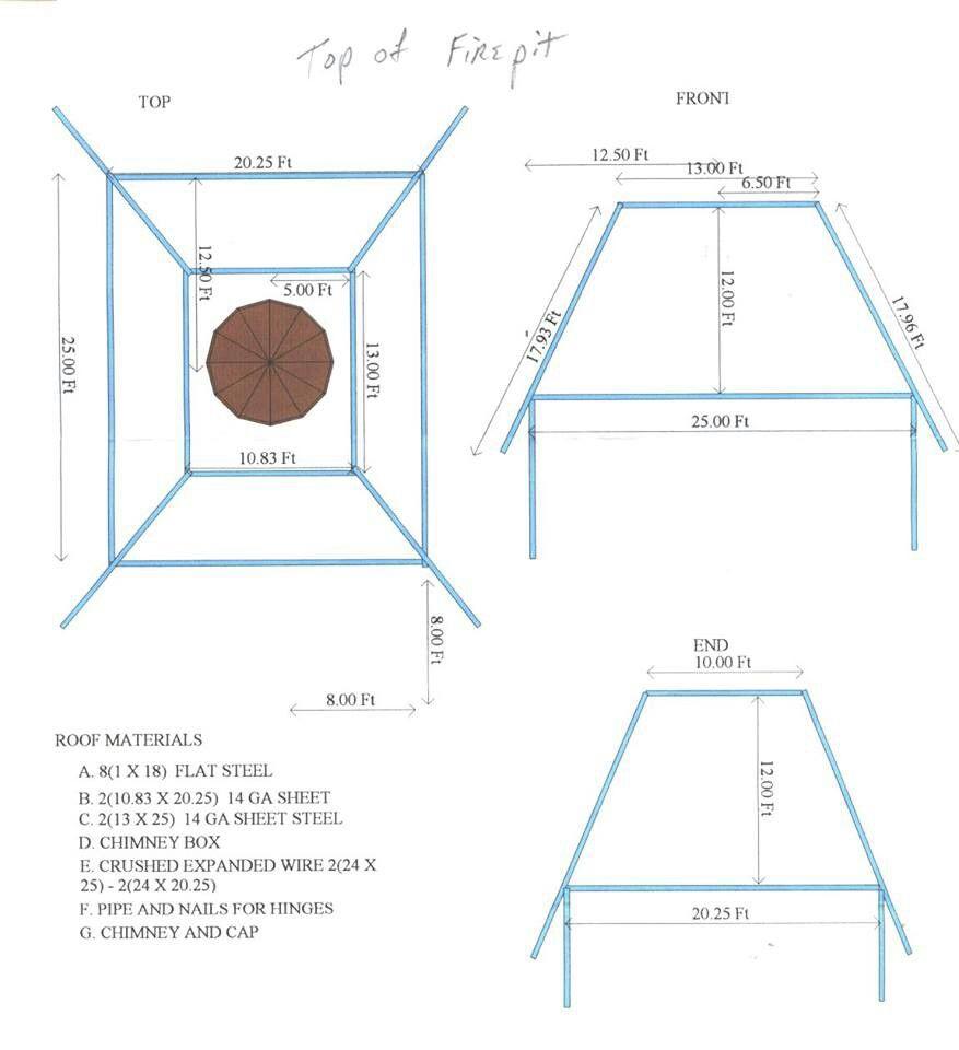Metal firepit blueprints...   Inspiration   Pinterest ...