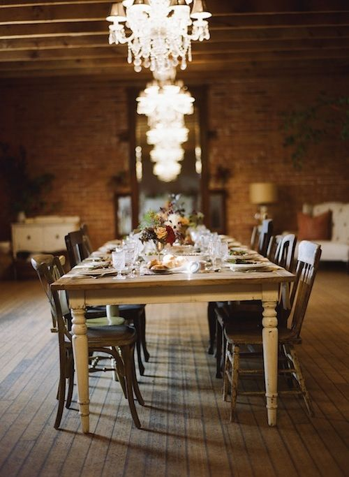 Love The Mix Of Casual Elegance Table Inspiration Rustic Dining Table Table