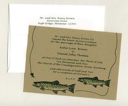 Fishing Wedding Invitations The Specialists