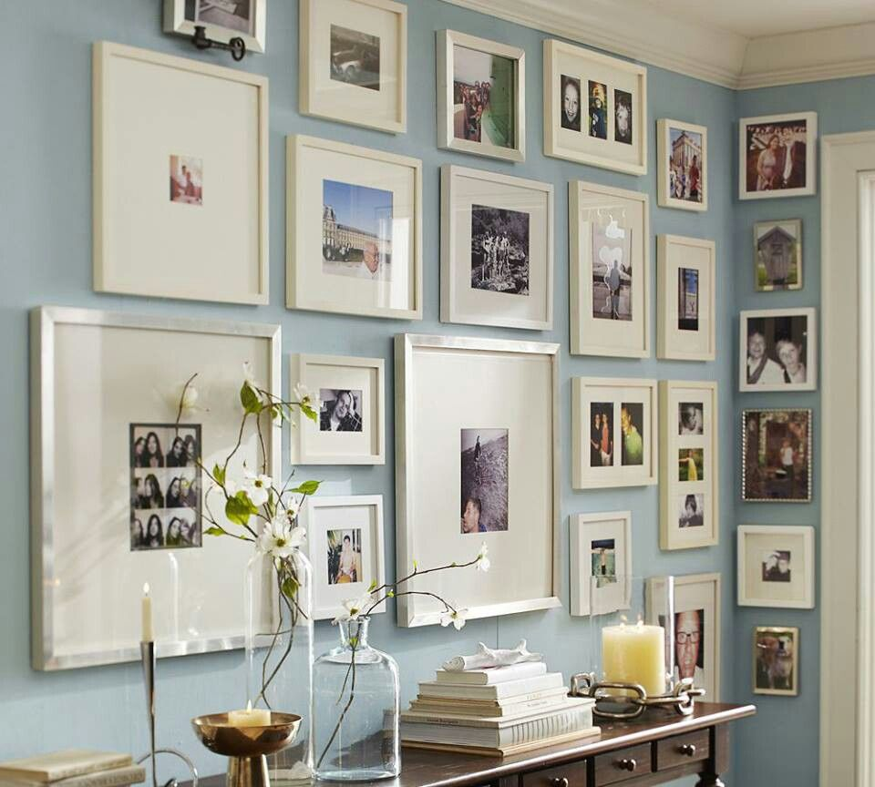 Pottery Barn. Memory wall ideas | Home and More | Pinterest