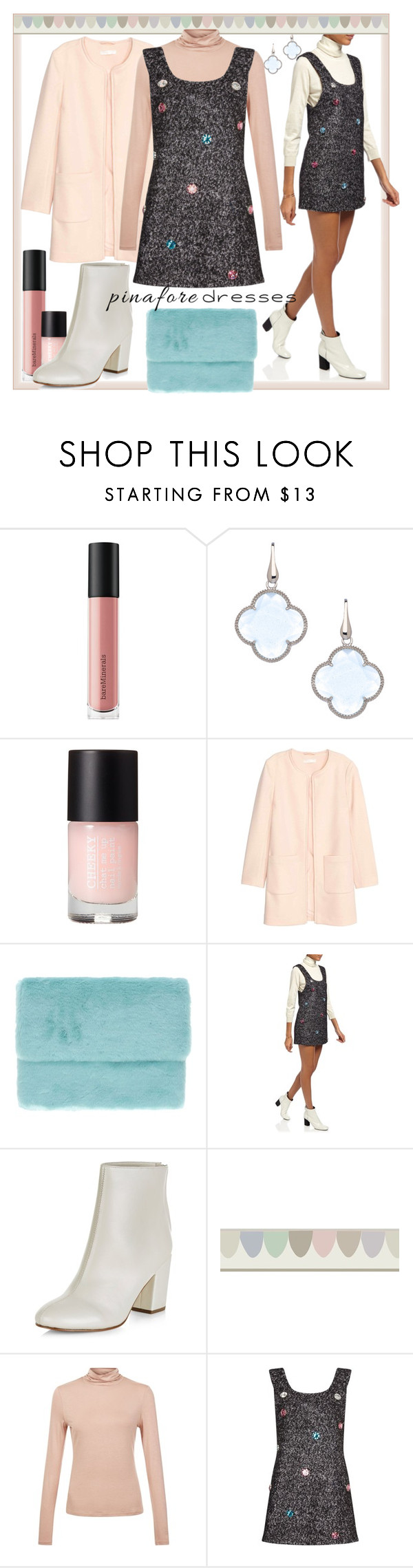 """""""Boucle"""" by alejandra-soraires on Polyvore featuring moda, Bare Escentuals, Elliott Chandler, Oui, Odile!, Anna K, New Look, pinafores y 60secondstyle"""