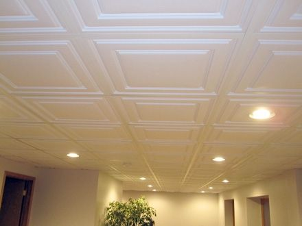 Drop Ceiling Tiles easy to get to wires and plumbing but still