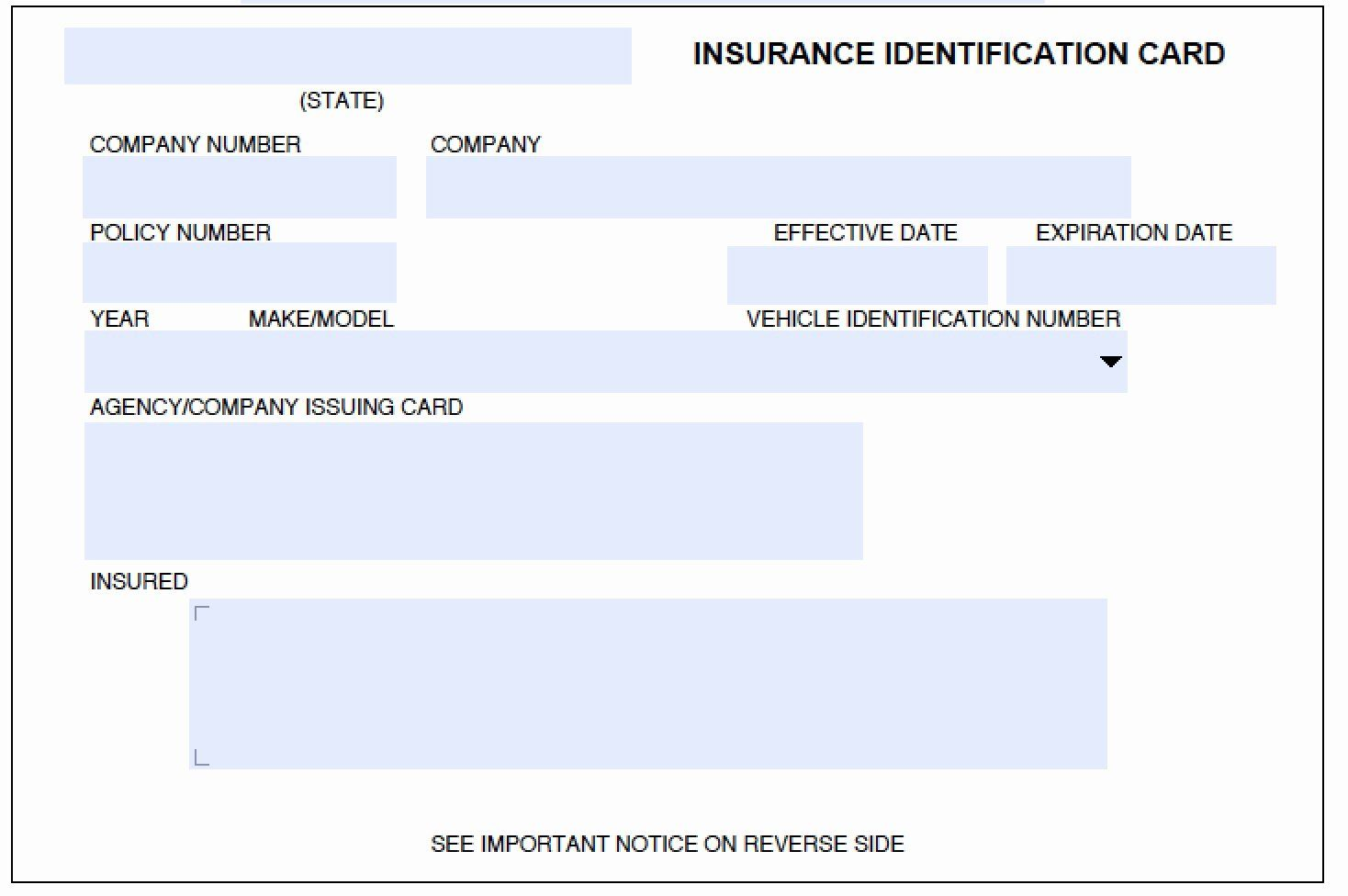 Car Insurance Card Template Fresh Download Auto Insurance Card Template Wikidownload In 2020 Id Card Template Car Insurance Card Template