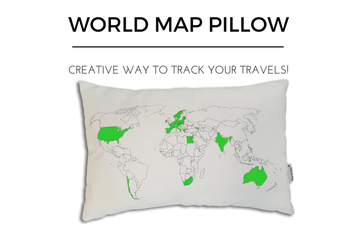 Help fund worldmappillow kickstarter creative way to track your explore fabric markers world maps and more gumiabroncs Images