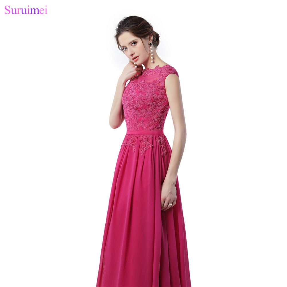 Click to buy rose red bridesmaid dresses lace applique with cap click to buy rose red bridesmaid dresses lace applique with cap sleeves ombrellifo Gallery