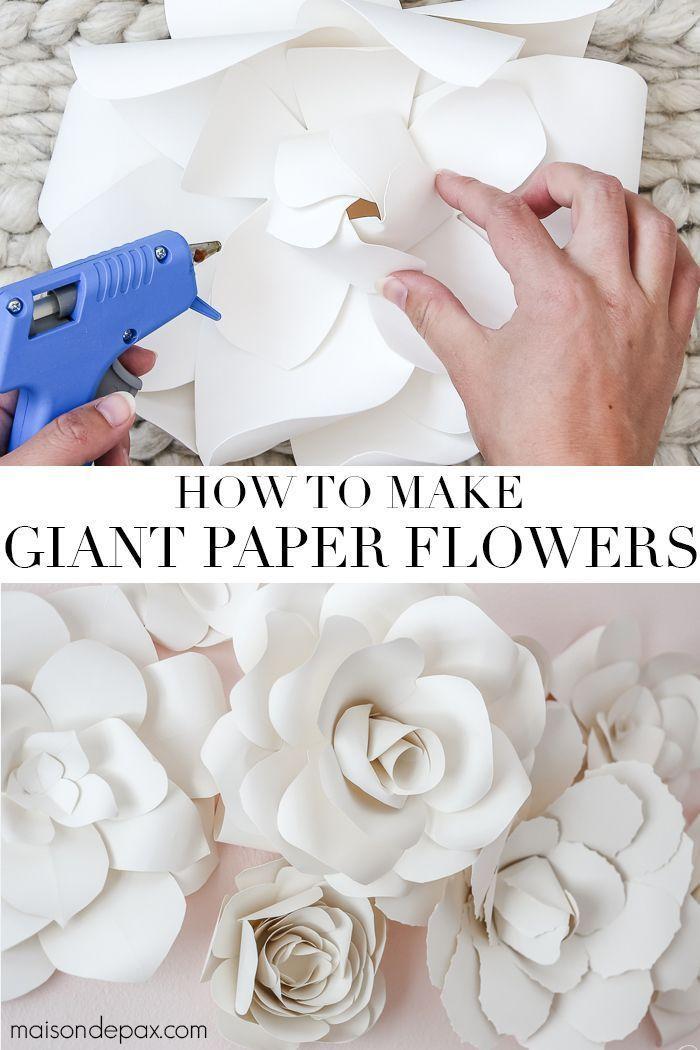DIY Riesen Papierblumen Tutorial - DIY Papier Blog #easypaperflowers
