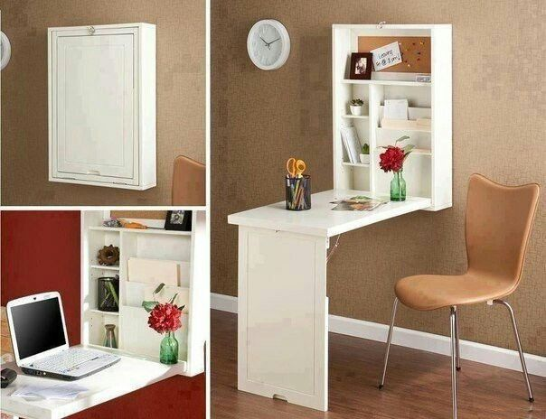 Foldable wall-mounted laptop desk