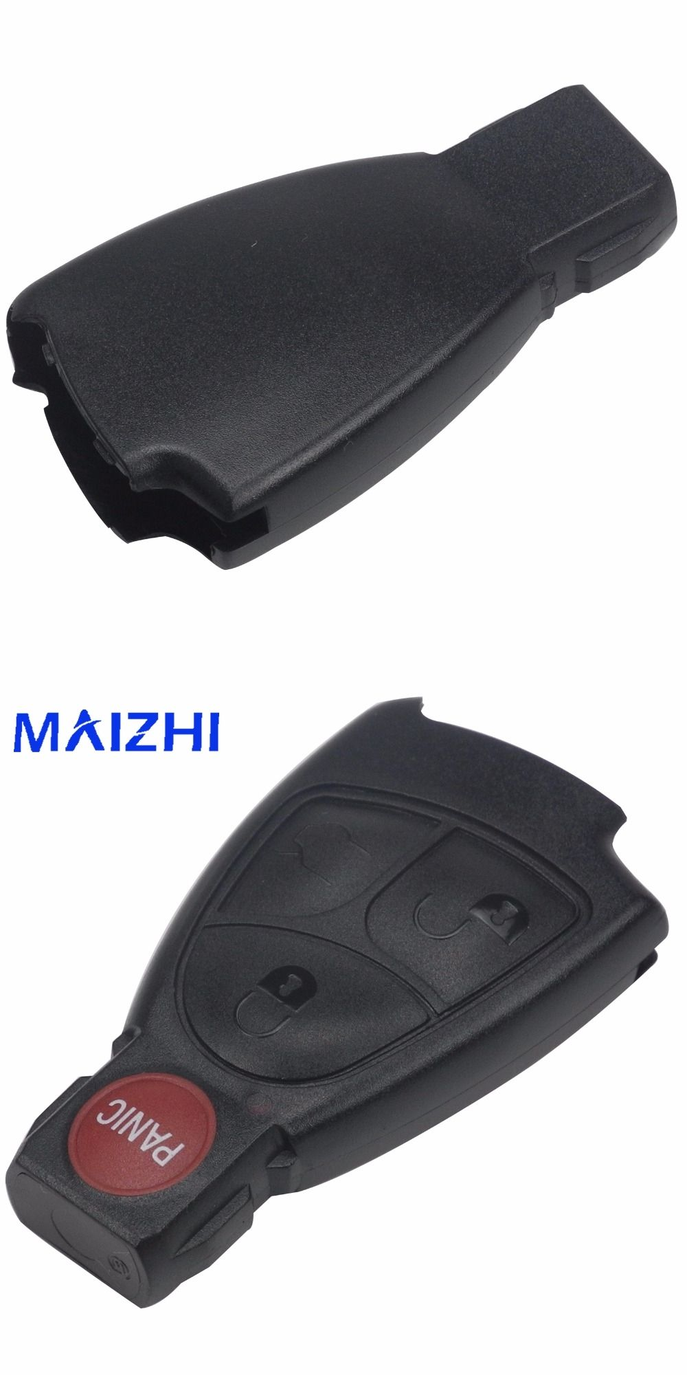 Maizhi Replacement Remote Key Case Fob 4 Buttons For MERCEDES BENZ E C R CL  GL SL CLK