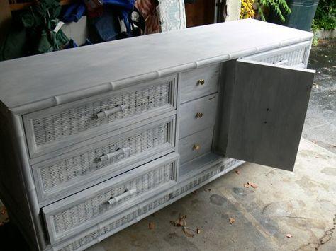 painted wicker refurbished dresser grey bedroom furniture boys wall design