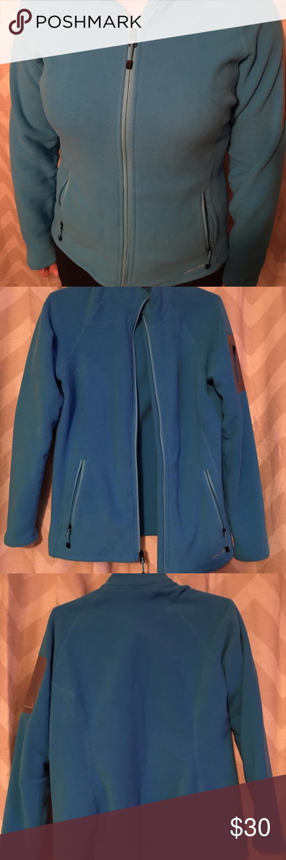 Eddie bauer zipup fleece jacket fleece zipup jacket with zip