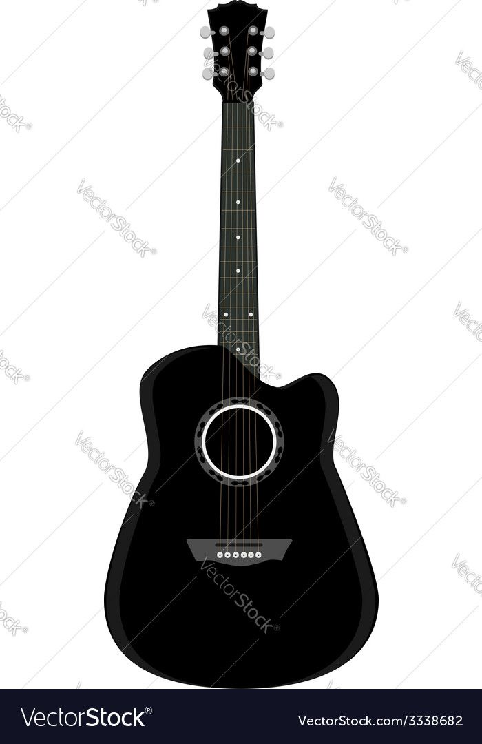 Guitar Black Guitar Acoustic Guitar Guitar Isolated Download A Free Preview Or High Quality Adobe Illustrator Ai Eps Pdf And High Resolution Jpeg Ve Kekasihku