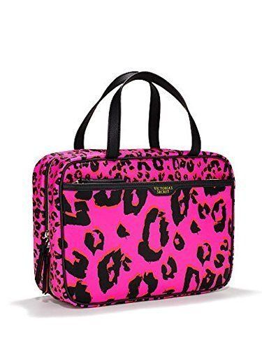 d373a217a0f1bc Victorias Secret Large Hanging Cosmetic Bag Travel Case Pink Leopard Print  -- Learn more by visiting the image link.