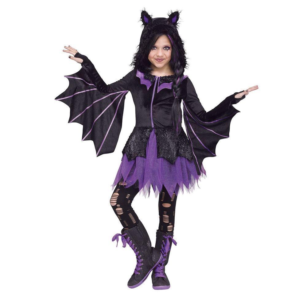 Childs Purple Glitter Vamp Wig