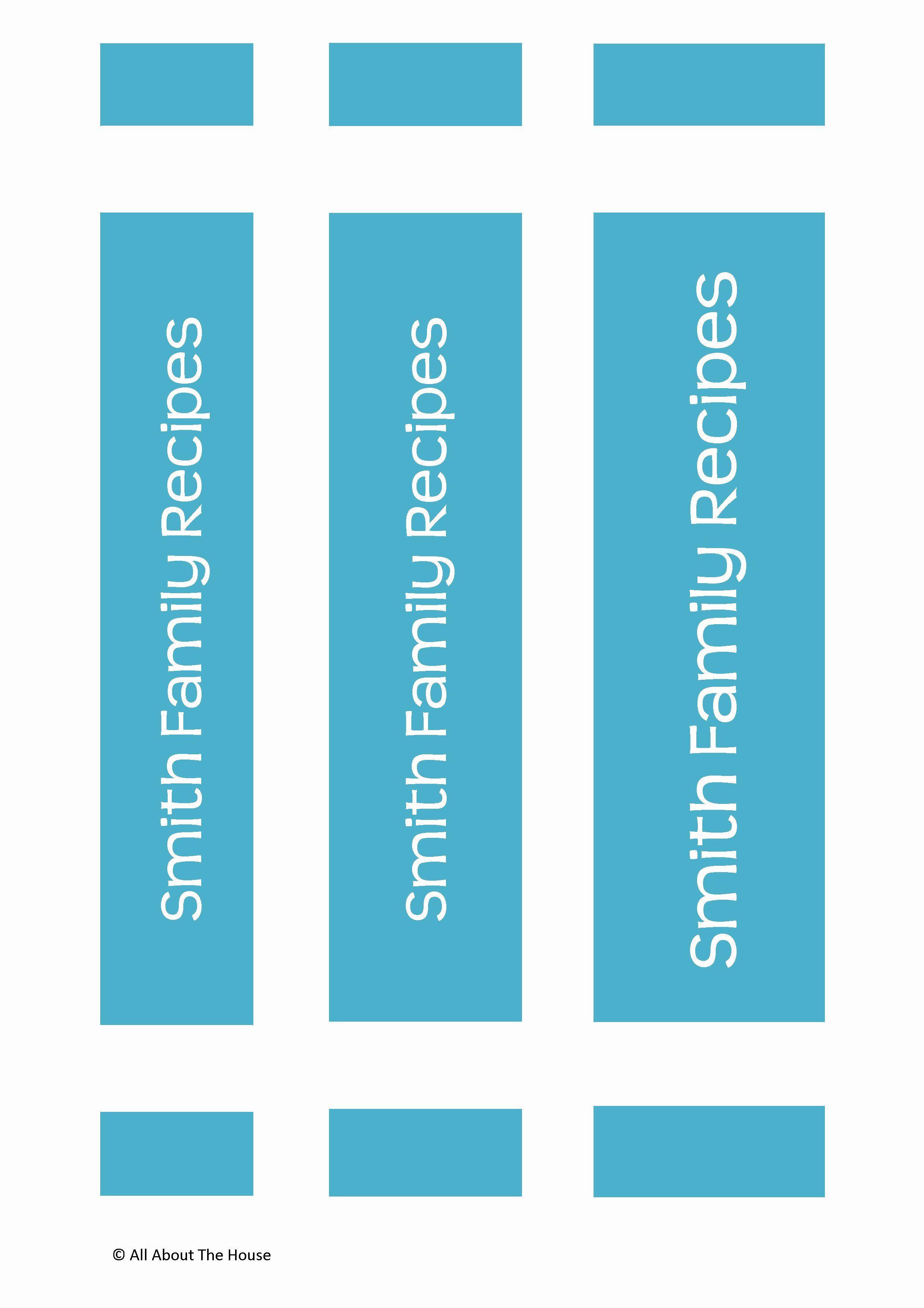 Binder Spine Label Template Fresh Make Your Own Personalised Printable Recipe Binder Binder Spine Labels Binder Labels Binder Cover Templates