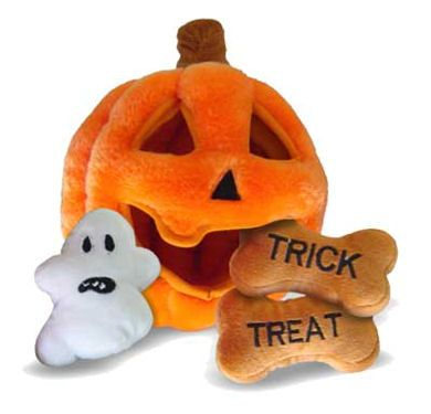 Halloween Pumpkin Puzzle Dog Toy