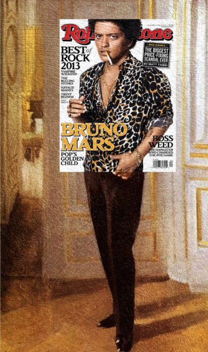 Lol at this edit of Bruno Mars for Rolling Stone