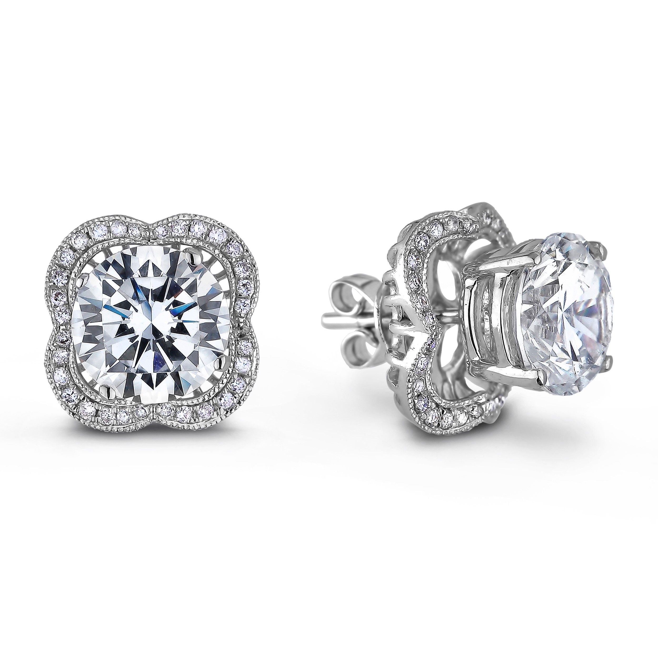in sterling geometric earrings collections products white solitaire topaz stud with triangle