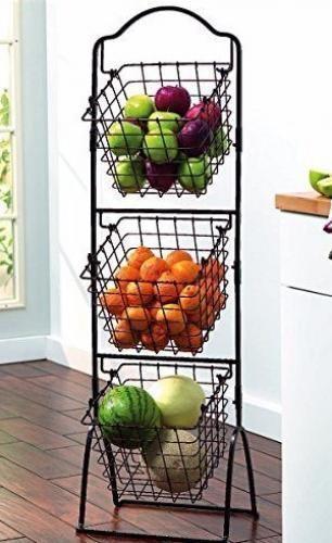 Kitchen Utensil Storage Market Basket Fruits Veggies Potato Organizer Bath Stand Kitchenutensilstorage Metal Baskets Wire Basket Storage Tuscan Kitchen
