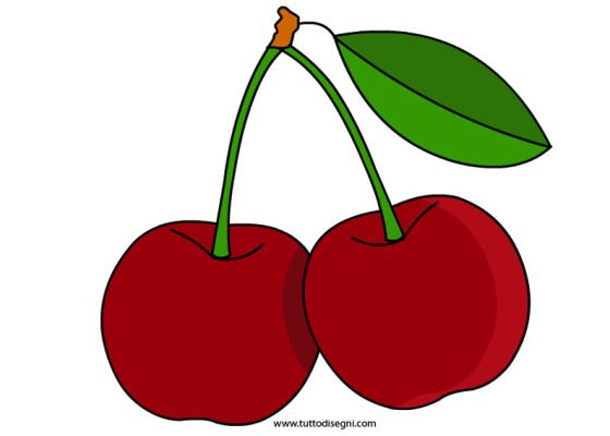 Ciliegie sagome pinterest ciliegie frutta e disegni for Disegni da colorare ciliegie