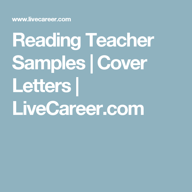reading teacher cover letters