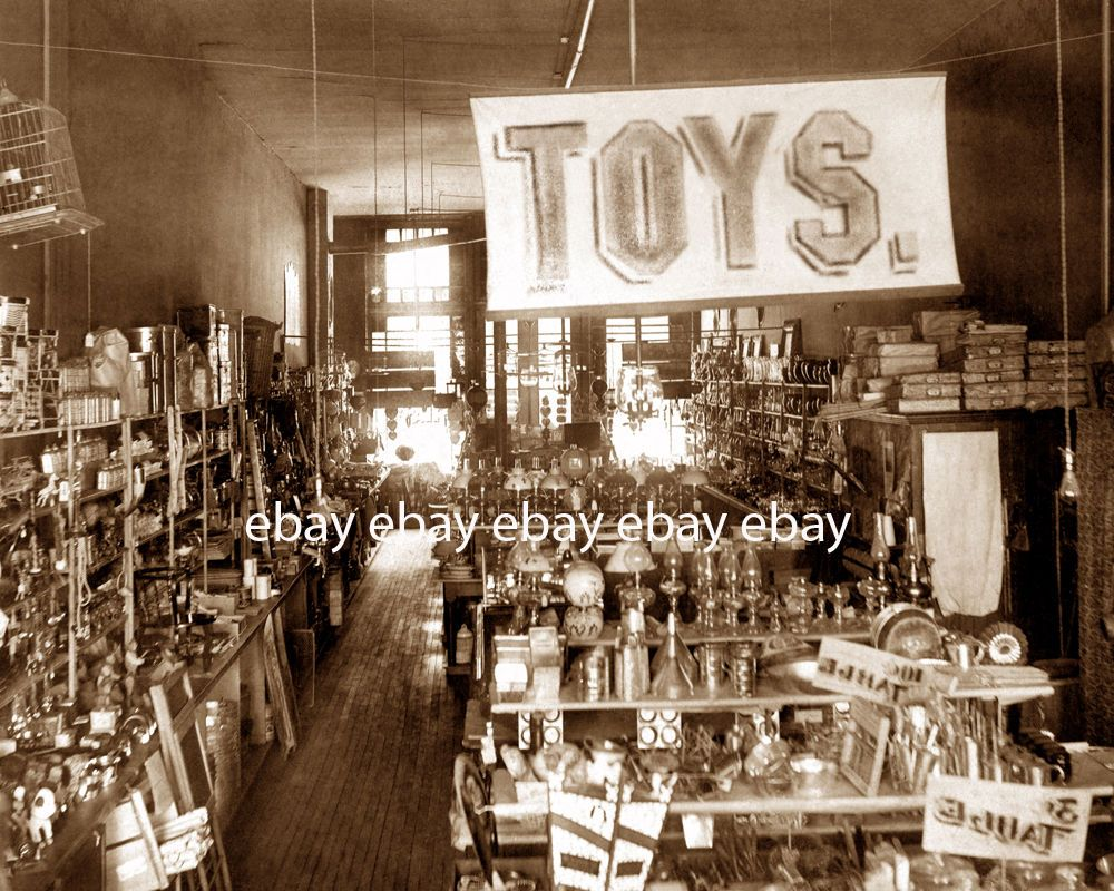 Early 1900's old mercantile department store toy shop sign ...
