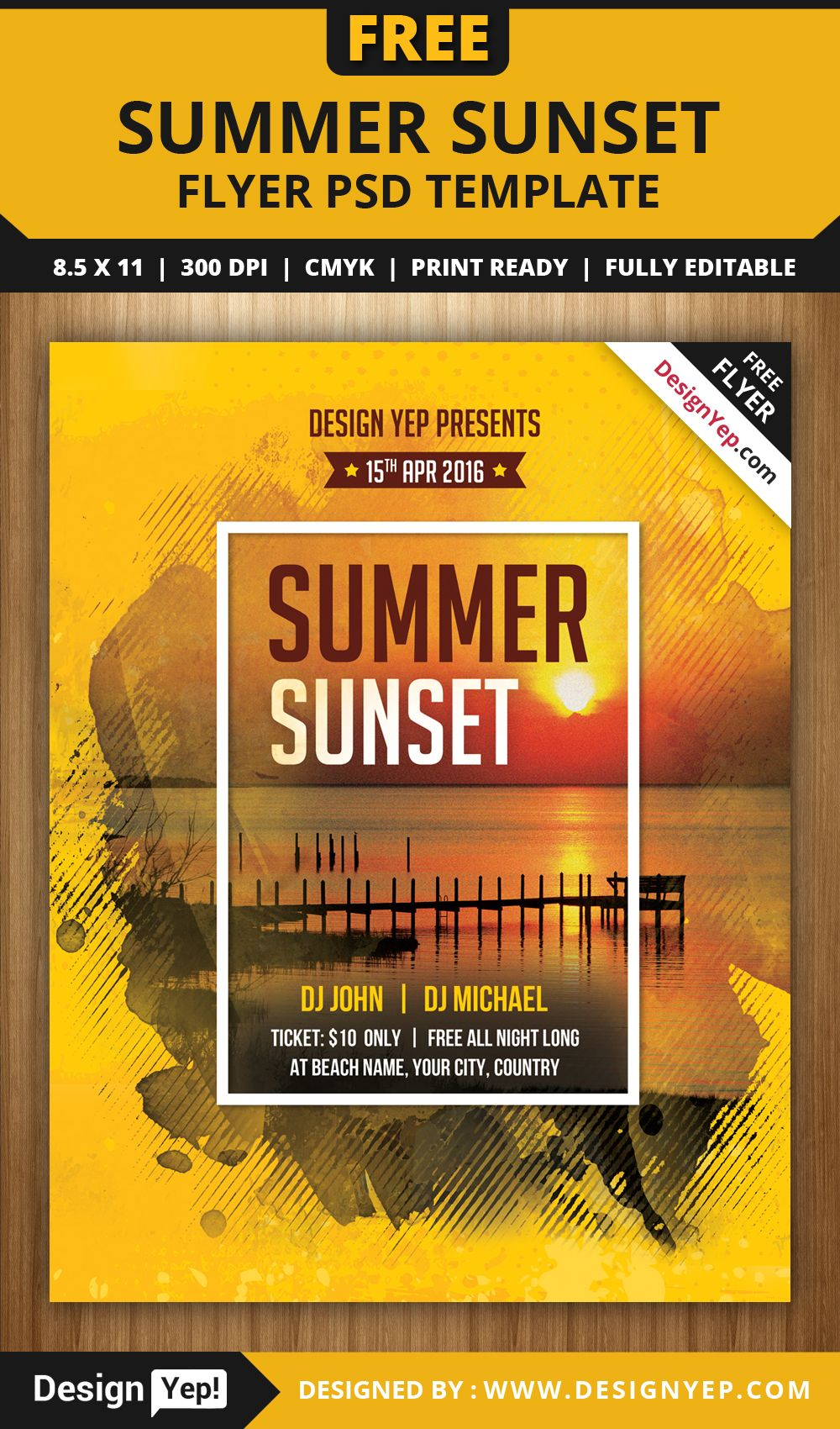 burger night flyer psd template designyep flyers summer sunset beach party flyer psd template designyep